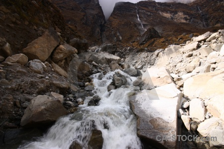 River annapurna sanctuary trek mountain modi khola valley water.