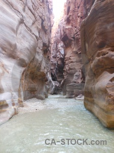 River jordan gorge mujib canyon.