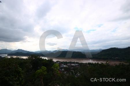 River mountain water luang prabang sky.