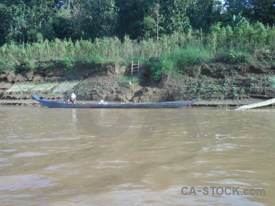 River nam khan water vehicle laos.