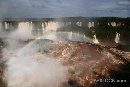 River spray iguacu falls brazil iguassu.