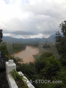 River unesco luang prabang nam khan mount phousi.