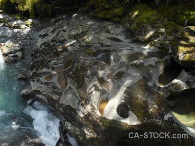 River water cleddau river boulder south island.