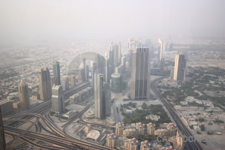 Road aerial city asia middle east.