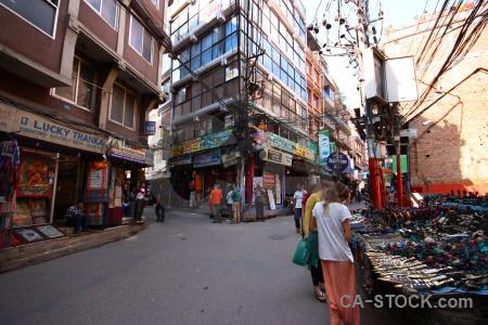 Road asia thamel kathmandu nepal.