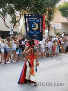 Road building javea flag fiesta.