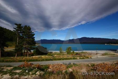 Road new zealand cloud lake tekapo landscape.