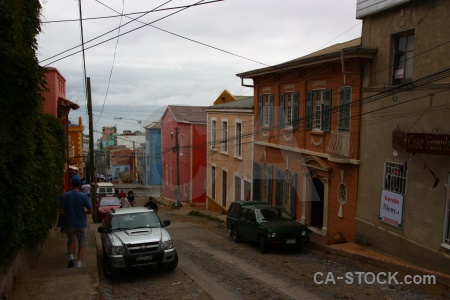 Road sky south america car valparaiso.