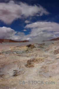 Rock andes geyser geiser sol de manana south america.