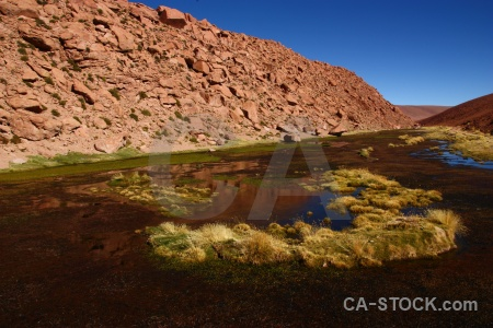 Rock andes south america atacama desert lake.