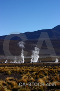 Rock atacama desert steam andes mountain.