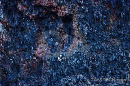 Rock blue volcanic texture lava.