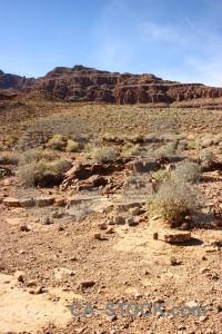 Rock brown blue landscape desert.