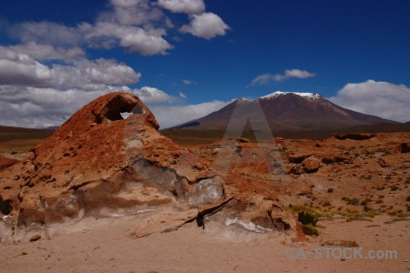 Rock cerro caquella andes altitude south america.