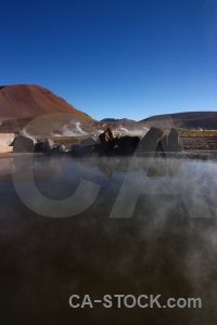 Rock chile el tatio landscape andes.
