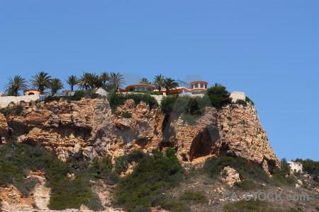 Rock cliff javea spain punta estrella.