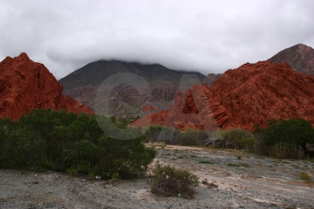 Rock cliff landscape sky argentina.
