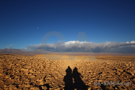 Rock desert moon landscape shadow.