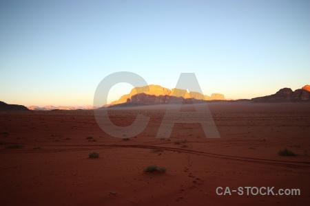 Rock desert wadi rum western asia bedouin.