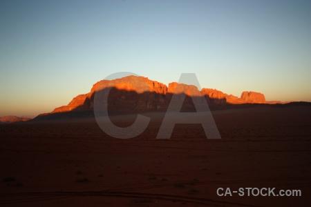 Rock desert wadi rum western asia mountain.