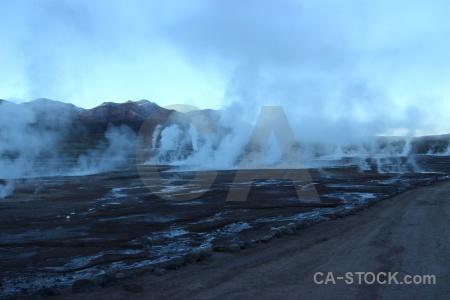 Rock el tatio andes geyser sky.