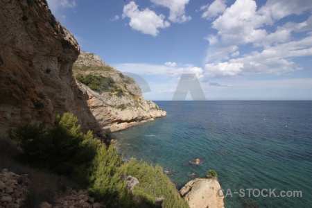 Rock europe sky spain javea.