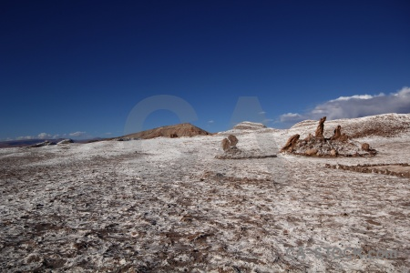 Rock formation san pedro de atacama salt south america chile.