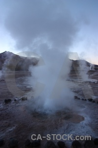 Rock geyser mountain atacama desert chile.