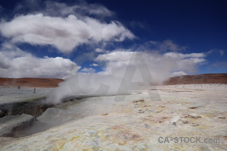 Rock geyser south america cloud andes.