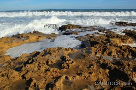 Rock javea wave water spain.