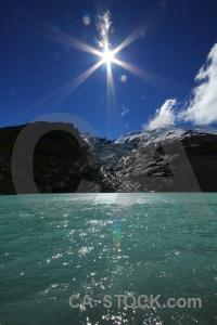 Rock lake snowcap argentina terminus.