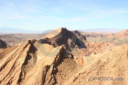 Rock landscape desert mountain.