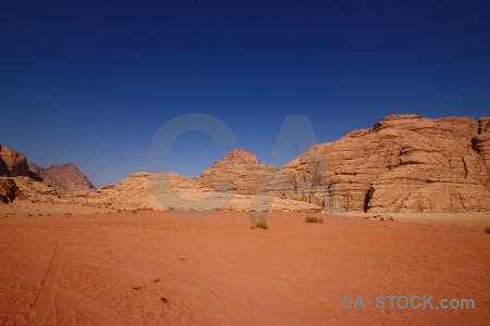 Rock middle east wadi rum jordan desert.