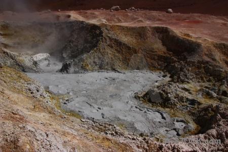 Rock mud south america bolivia geyser.
