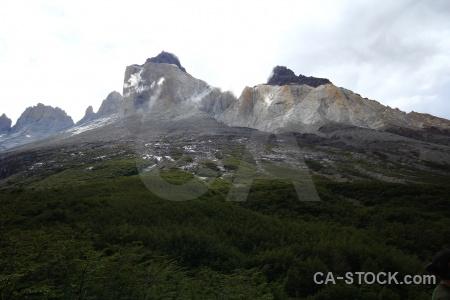 Rock patagonia sky circuit trek landscape.