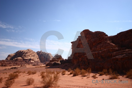 Rock sand landscape western asia bedouin.