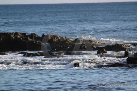 Rock sea water surface.