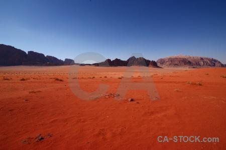 Rock sky bedouin landscape western asia.