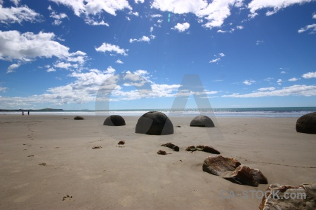 Rock sky spherical new zealand sand.