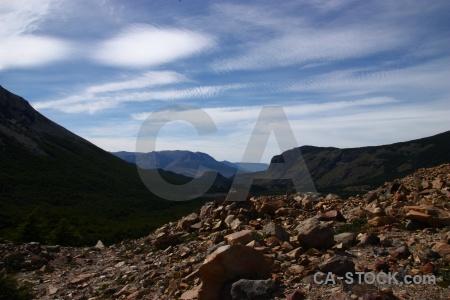 Rock south america argentina senda a laguna torre stone.