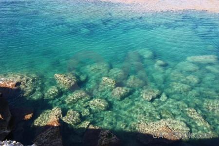 Rock spain javea europe water.