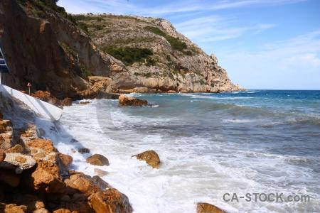 Rock spain sky europe water.