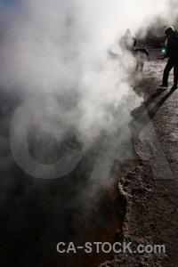 Rock steam geyser south america chile.