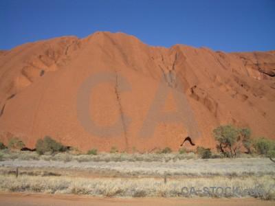 Rock uluru australia ayers rock cliff.