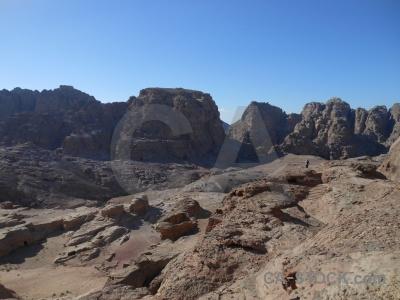 Rock unesco nabataeans petra western asia.