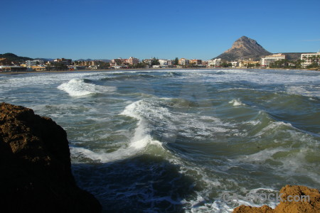 Rock water sea spain javea.