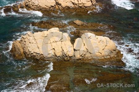 Rock water spain javea sea.