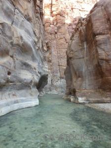 Rock water western asia jordan wadi.