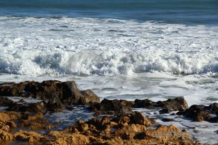 Rock wave europe sea water.