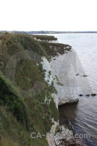 Rock white green cliff.